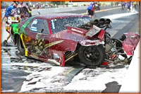 Ray Commisso Pro Mod Camaro After Crashing And Fire Out