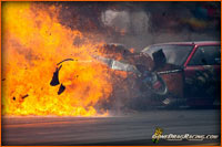Ray Commisso Pro Mod Camaro Firey Crash And Ball Of Fire At ADRL By Seth Cohen