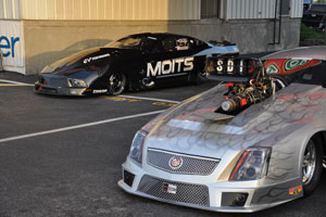 The Warriors Moits Racing Pro Mod and John Stanleys Cadillac CTS-V PDRA Pro Extreme prepare to do battle