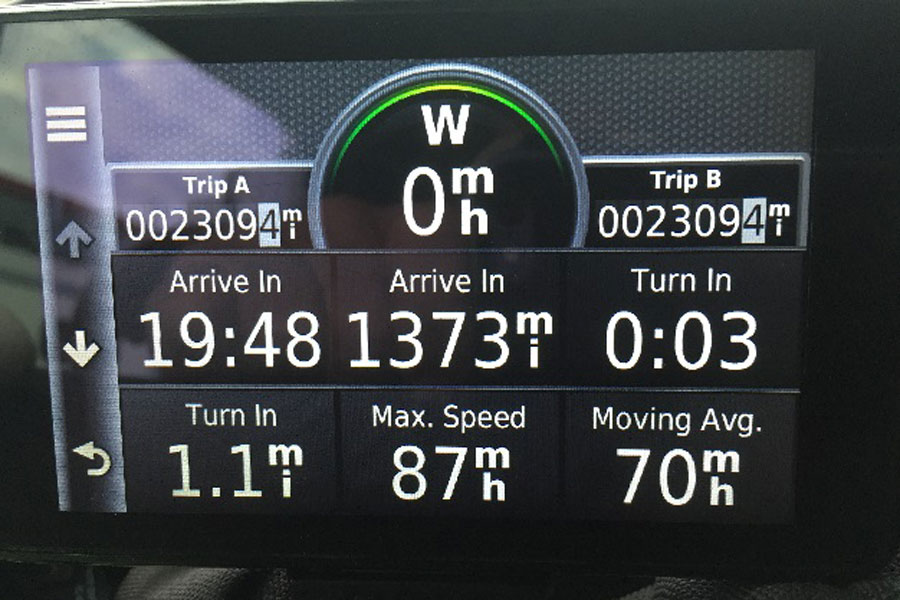2309 miles=70mph moving average and a top speed of 87mph!