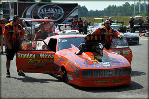 The Pro Mod preparing to do battle At ADRL Virgina 2012