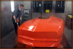 The new orange paint goes on at Maaco of Hagerstown