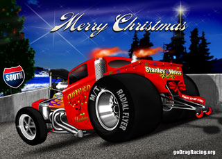 Hot Rod Christmas card Blow Out  Download A Large Card