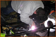 John Stanley Welding As he does the driving too